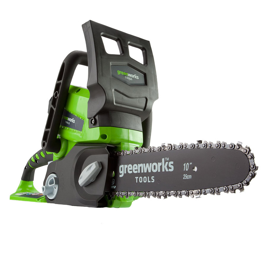 Chain saw rechargeable Greenworks G24CS25 24V (without BATTERY and CHARGER, battery life of 40, keyless tension c