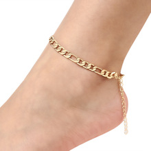 Fashion Foot Chain Jewelry Gold Silver Color Punk Anklets Geometric Adjustable Anklet Bracelet for Women Accessories