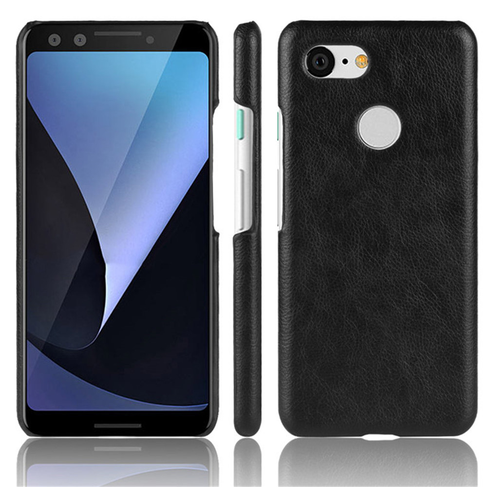 For Google Pixel 3 Case Luxury Litchi Striae PU Leather Hard Thin Back Cover Case For Google Pixel 3XL Protective Phone Cases