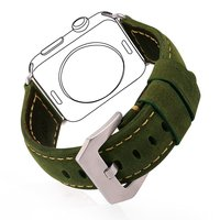 Apple Watch Band 42mm IWatch Band Strap Premium Vintage Genuine Leather Replacement Watchband With Secure Metal