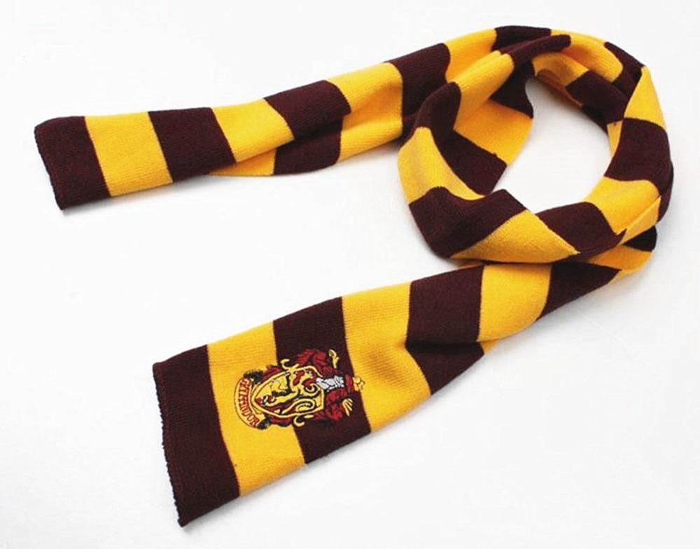 Nueva Moda 4 Color Colegio Serie de Harry Potter Gryffindor bufanda bufanda Con Insignia Cosplay Personalidad