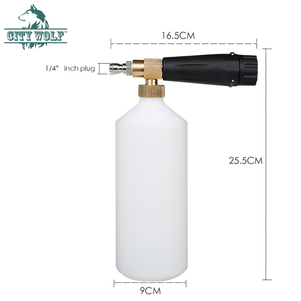Image 4 - snow foam lance City wolf high pressure washer foam gun  with 1/4 quick connector disinfection car cleaning accessory-in Car Washer from Automobiles & Motorcycles