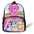 12 pulgadas mochila my little pony bolso de escuela los niños niñas del bolso de hombro de los muchachos del niño infantil mochila de dibujos animados los niños de kindergarten