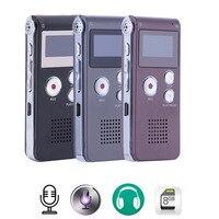 새로운 충전식 8 기가바이트 디지털 오디오 사운드 음성 레코더 딕 터폰 MP3 플레이어 높은 품질 미니 디지털 USB 음성 녹음