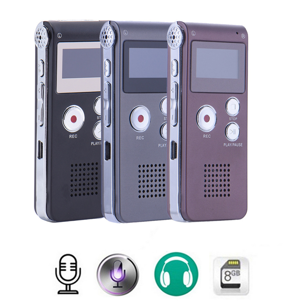New Rechargeable 8GB Digital Audio Sound Voice Recorder Dictaphone MP3 Player High Quality Mini Digital USB Voice Recording Pen ...