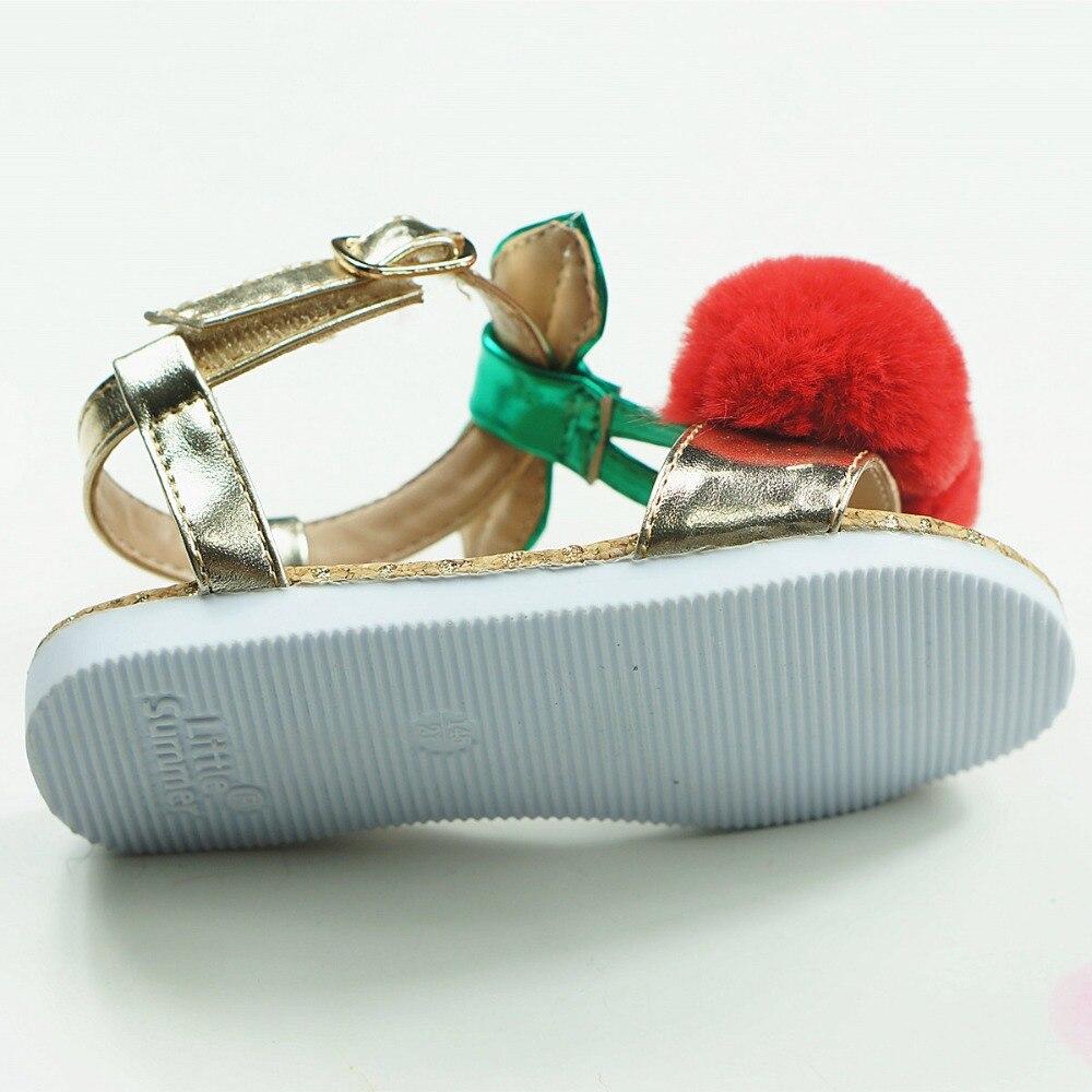 1T-5T Piękny Cherry Dziewczyny Sandały Ekskluzywny Mikrofibry - Obuwie dziecięce - Zdjęcie 5