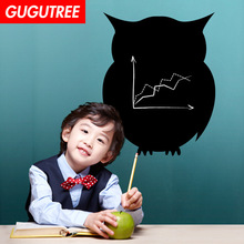 цена на Decorate Home 45x57cm owl blackboard art wall sticker decoration Decals mural painting Removable Decor Wallpaper LF-500