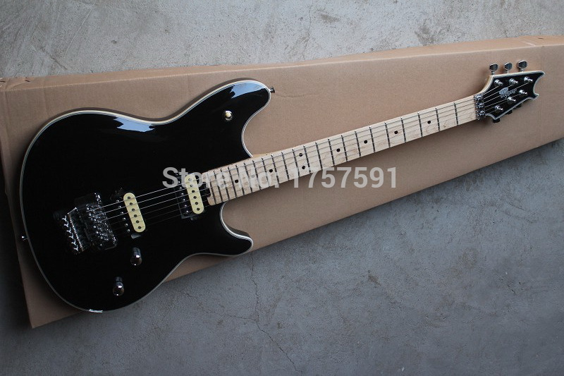 Free shipping Hot Selling Custom Shop Wholesale black EVH Wolfgang stealth style model electric guitarFree shipping Hot Selling Custom Shop Wholesale black EVH Wolfgang stealth style model electric guitar