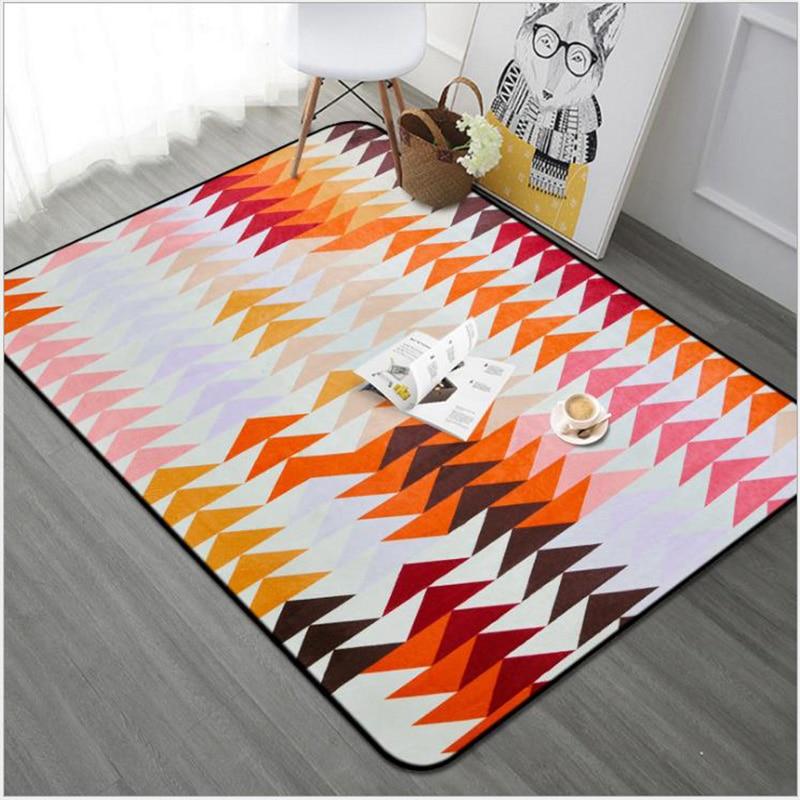 O SHI tapis de voiture motif géométrique abstrait décor à la maison tapis de sol 100CM * 150 CM/Table et chaise tapis de coussin - 5