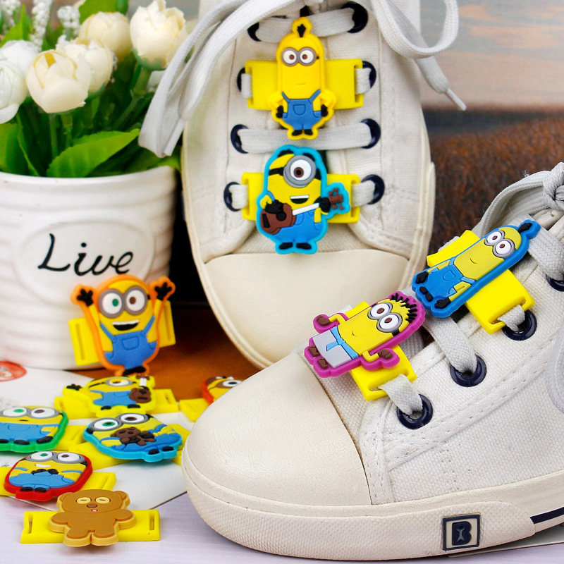 12Pcs/Lot Novelty Cartoon Despicable Me Shoelace Charms Minion Shoe Decorations Casual/Sports Shoes Accessories For Kids Gifts