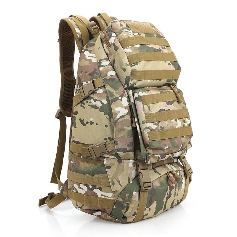 Men Women Unisex Military Backpack Rucksack 45L MOLLE Large Big Ergonomic Gear Travel shoulder Bags free shipping men women unisex outdoor military tactical backpack camphiking bag rucksack 50l molle large big ergonomic gear