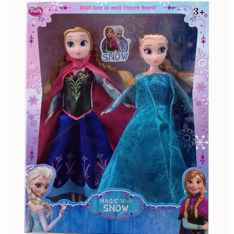 Disney princesa muñeco de frozen hielo Romance aventura reina muñeca princesa muñeca regalo para los niños juguetes Aficiones Disney Frozen peine princesa Anna Elsa figura de acción antiestático cepillos para el cuidado del cabello niñas vestido de cumpleaños regalo de los niños