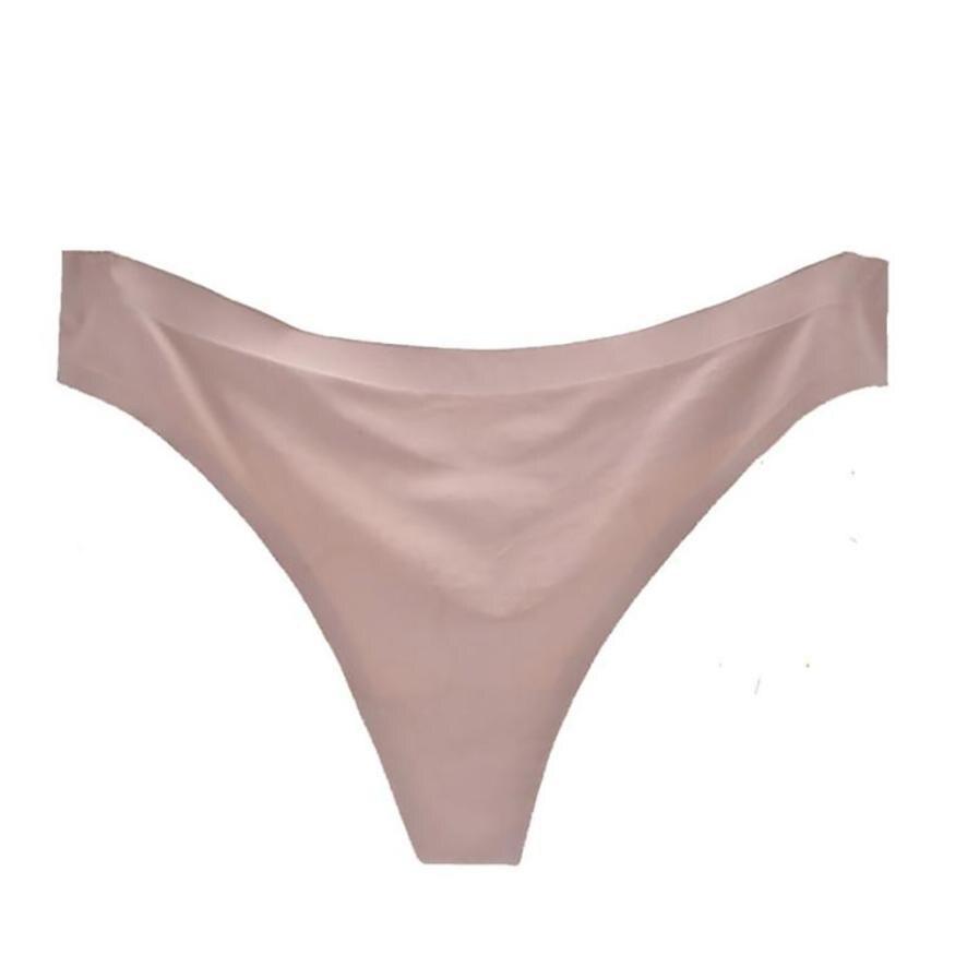 2019 Sexy Women Invisible Underwear Briefs Ladies G Strings Comfortable Ice Silk -3471
