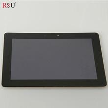 R & T pantalla lcd táctil digitalizador asamblea con marco para ASUS MeMO Pad FHD 10 ME302C ME302 K00A 5425N 100% prueba