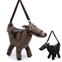Hot Animal bag Creative 3D Pony Donkey Horse Shape Female Shoulder Bag women messenger Bags travel bag Pack mochila bolsos mujer