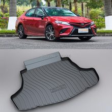LUCKEASY Non-Slip Waterproof 3D TPO Trunk Boot Cargo Mat Recycled Durable For Toyota Camry 2018 Car-styling