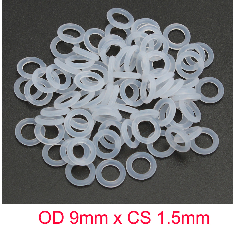 OD 9mm x CS 1 5mm o ring silicone transparents rubber o ringen in Gaskets from Home Improvement