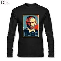 ロシアプーチン願って下tシャツロングスリーブコットンオリジナルtシャツ男
