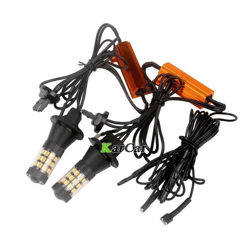 2x WY21W 7440 bez automašīnas Canbus kļūdas 4014 60SMD 2 režīmu - Auto lukturi