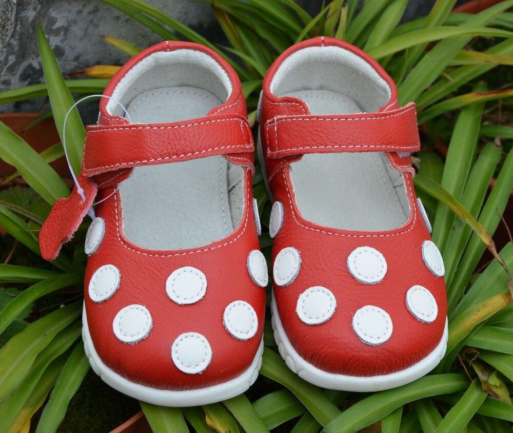 Кожаная обувь мягкая детская белая Мэри Джейн с разноцветным узором в горошек Классическая для маленьких девочек