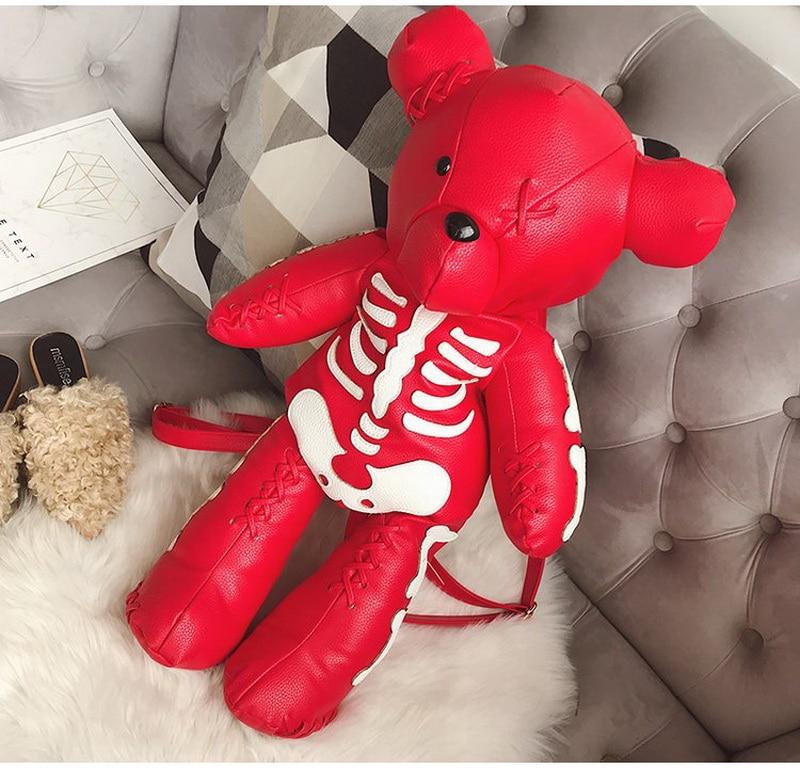 HTB16j9wkv6H8KJjSspmq6z2WXXa8 DIINOVIVO Fashion Skeleton Bear Female Backpack Punk Style School Bags Designer Backpacks for Adolescent Girls Gifts WHDV0324