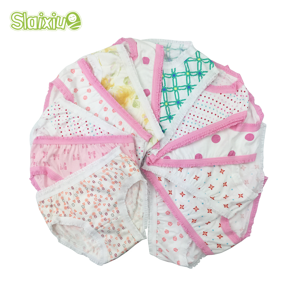 6Pcs/Lot Cotton Baby Girls Briefs High Quality Panties for Girls Kids Briefs Shorts Girls Underwear Children Underpants Clothes