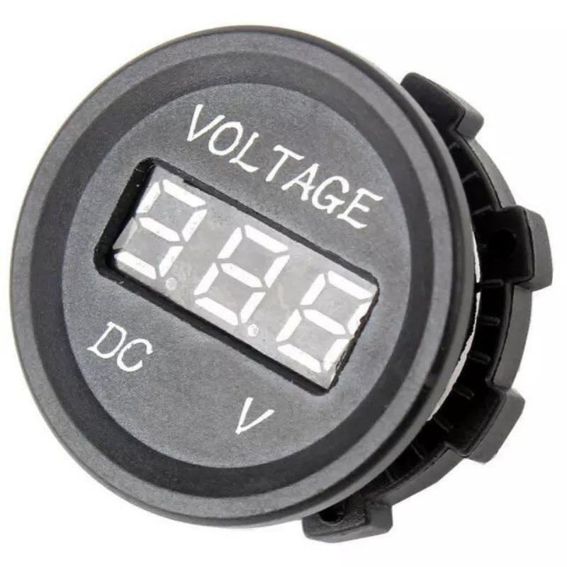 Professional LED Digital Display 12 V 24 V DC Auto Car Motorcycle Voltmeter Metro Waterproof Voltmeter