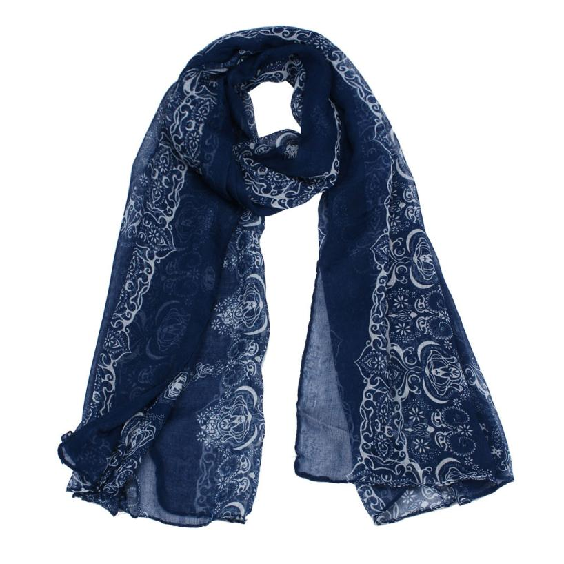 Classical Retro Print   Scarf   Women Autumn Paris Yarn Shawl   Wrap   Soft Voile   Scarf   Ladies Long   Scarves   Stoles Hijab Bandana #YL5