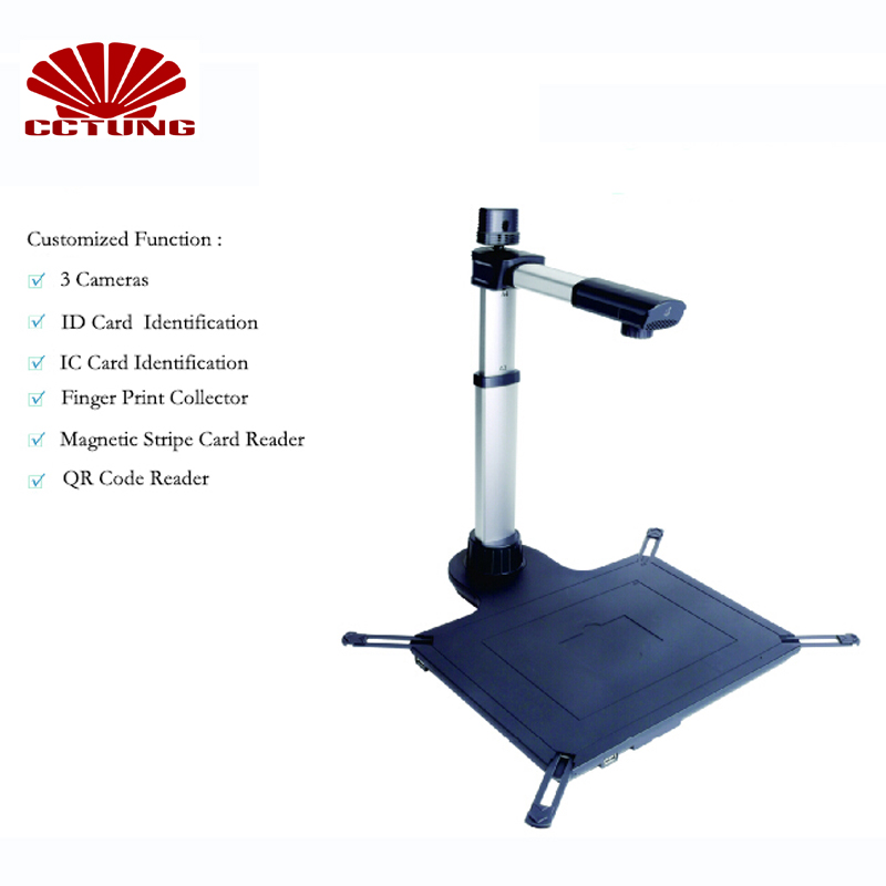 S920A3R Document Scanner for ID Card Identification IC Card Identification Finger Print Collection and QR Code Recognition etc