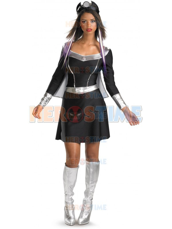 Us 44 52 Classic X Men Storm Dress Black And Silver Spandex Superheros X Men Storm Costumes Halloween Cosplay Zentai Suit Free Shipping On