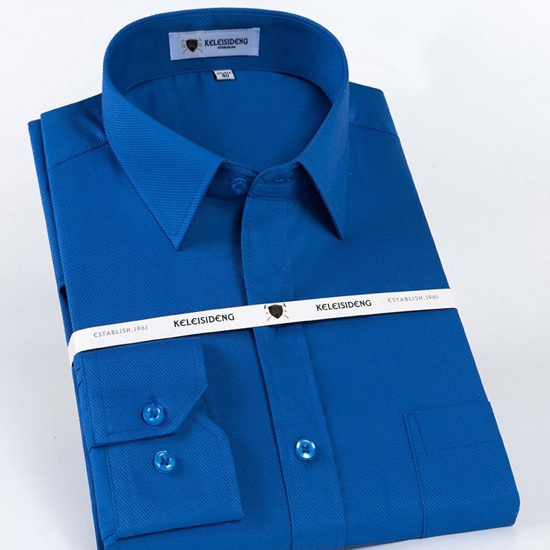 Cotton Men's Dress Shirt long sleeved regular fit Spread Collar Solid twill Business Mens Shirt High Quality Man Clothes 2020 1