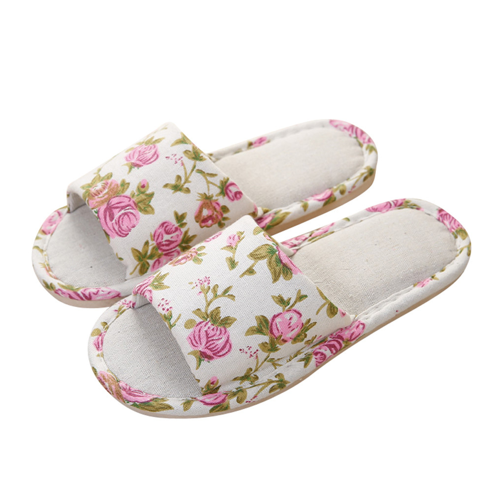 RD06 Fashion summer slippers for women Flops Slippers Summer Hemp Household Slippers fashion sandals women flower flip flops summer shoes soft leather shoes woman breathable women sandals flats sandalias mujer x3
