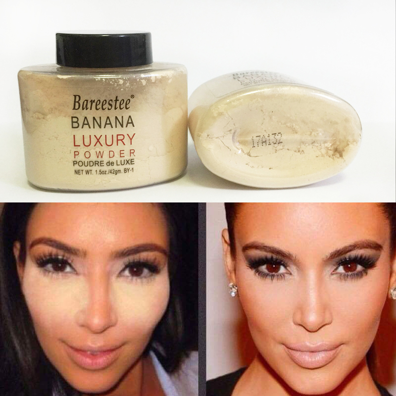 Banana Powder Smooth Loose Oil control Face Powder Makeup Concealer Mineral Finish Powder Transparent Foundation Korea Cosmetics