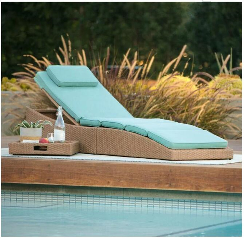 US $141.55 5% OFF|New arrival outdoor garden patio wicker chaise longue  furniture for sale-in Sun Loungers from Furniture on Aliexpress.com |  Alibaba ...
