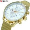 2016 New CURREN Luxury Brand Watches Men Quartz Fashion Casual Male Sports Watch Date Clock Full Steel Military Wristwatches