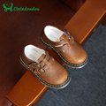Claladoudou crianças couro genuíno shoes crianças vestido de noiva desempenho shoes menino criança meninos escola único marrom preto shoes