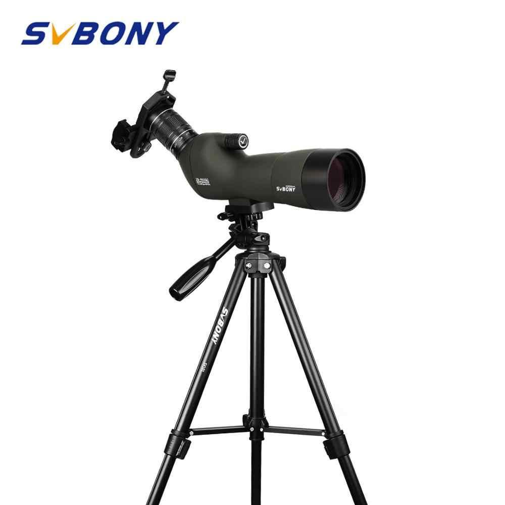 SVBONY SV29 Spottingขอบเขต23มม.20-60x60 BAK4 9Pcs/4กลุ่มกันน้ำซูมกล้องโทรทรรศน์W/โทรศัพท์มือถืออะแดปเตอร์โทรศัพท์ + ขาตั้งกล้อง