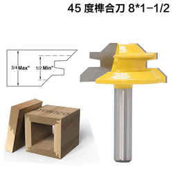 45 Degree 1/2 1/4 1/8 Shank Wood edge Miter Milling Tool Tenon Cutter Router Bits for Woodworking