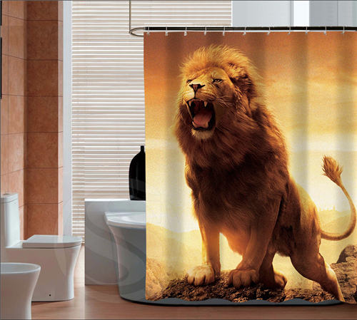 New Arrive The king of the forest, the lion Personalized Custom Shower Curtain Bath Curtain Waterproof MORE SIZE SQ0418-ZHH zwbra shower curtain