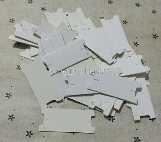 free shipping 500 pcs a lot 1.8x4.3cm blank white paper tagthe winding cardDIY tagscardsgift packing labels