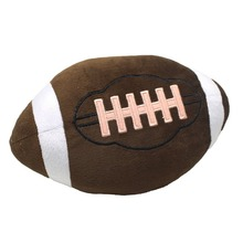 Football Plush Pillow Fluffy Stuffed Ball Throw Soft Durable Sports Toy Gift for Kids Room Decoration