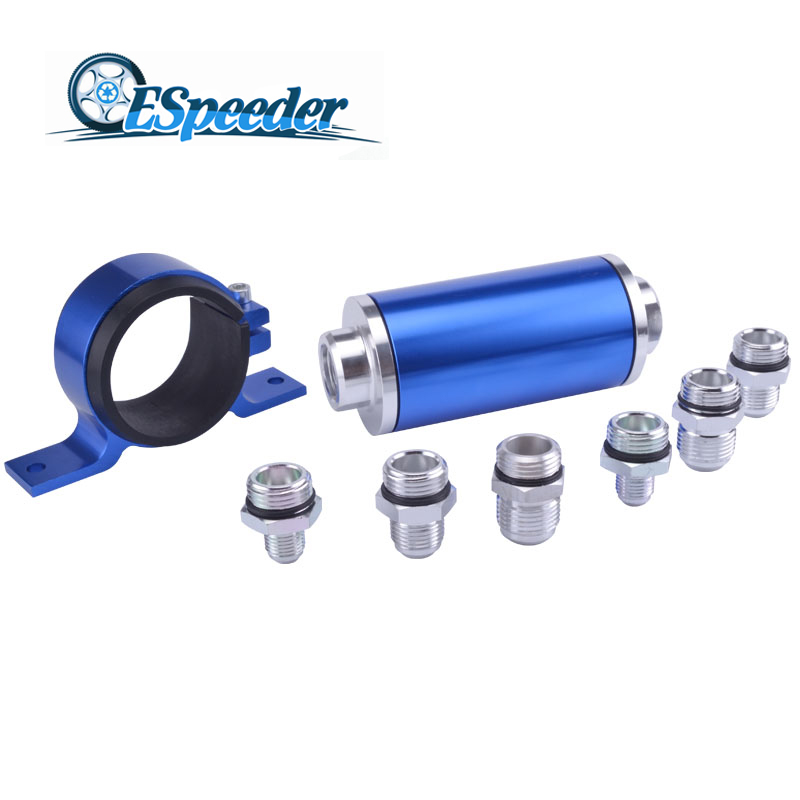 ESPEEDER Universal High Flow Aluminum Fuel Filter For Motorsport Rally Racing With Fitting An 6 8 10 Blue недорго, оригинальная цена