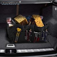 BROSHOO Car Styling Folding Trunk Glove Bag Grocery Bags Finishing Box Car Non Woven Fabric Storage
