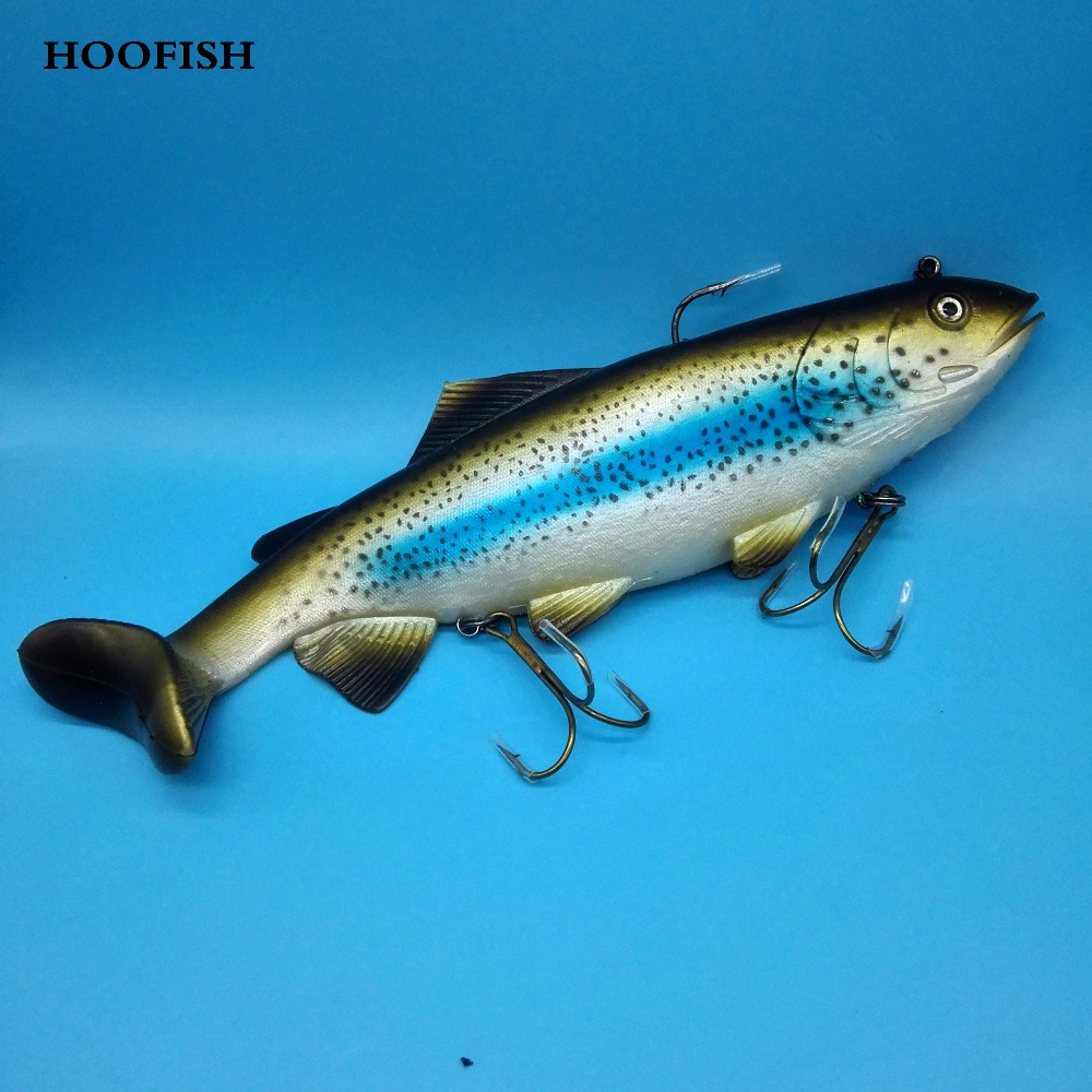 HOOFISH 1PCS 400G/29CM Big fish soft lure Deep Sea Big Bait Soft PVC Lure Fishing Tackle Big Artificial Baits