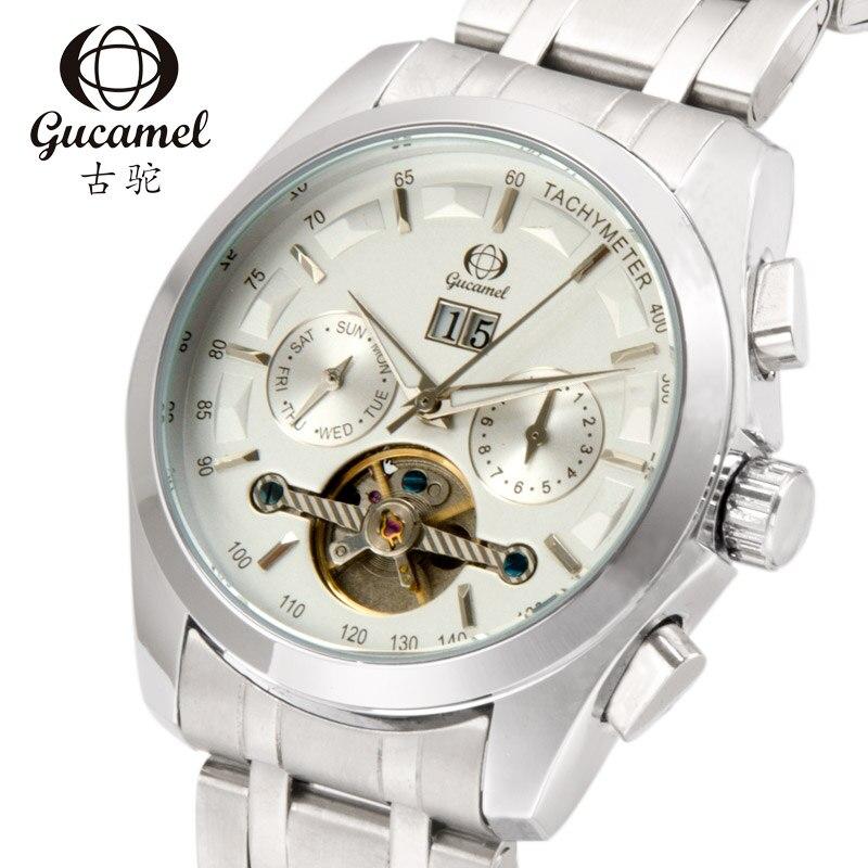 New 2018 Fashion Skeleton Automatic Watch Men Waterproof Flying Tourbillon Mechanical Watches Men calendar clock