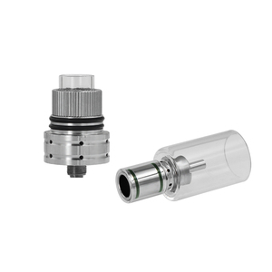 Image 3 - Original Longmada Mr bald iii III 510 atomizer tank For Wax Dry Herb Vape Pen Ceramic Heating Coil Chamber for mech mod
