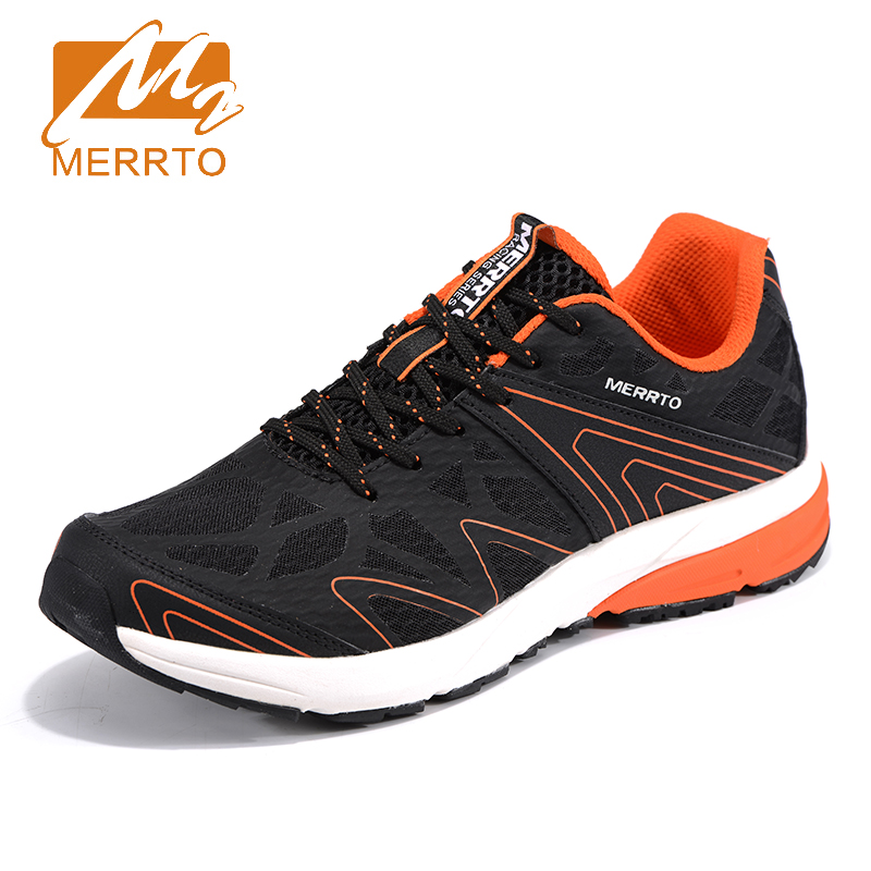 2018 Merrto Mens Trail Running Shoes Breathable Mesh Sneakers Outdoor Sports Shoes Lightweight Jogging Shoes Sneakers For Men недорго, оригинальная цена