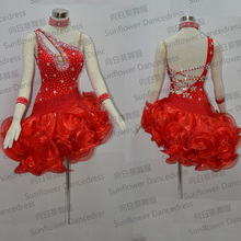 High Quality  Latin Dance Dress, Fashionable Dress, Latin Dress Ballroom Girls, salsa samba dance dress,latin dance wear