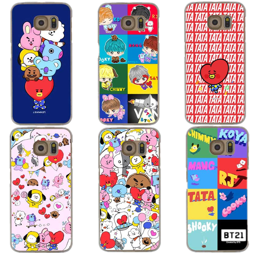 BTS Korea Bangtan Boys Young Forever BT21 Hard For Samsung Galaxy A3 A5 A7 2017 Note 8 5 J5 J7 2016 S4 S5 S6 S7 Edge S8 S8 Plus