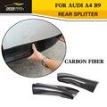 Estilo a4 b9 fibra de carbono splitter aventais laterais do carro para audi a4 b9 padrão bumper 2013-2015